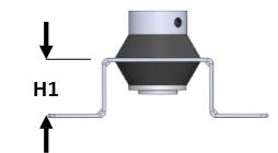 Vibramount Wand/Plafond Beugel Flexibel H25/M8