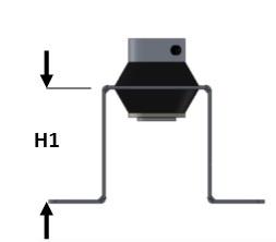 Vibramount Wand/Plafond Beugel Flexibel H50/M8