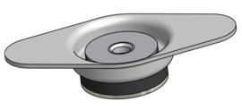 Vibramount Vloer Beugel Flexibel H34/50
