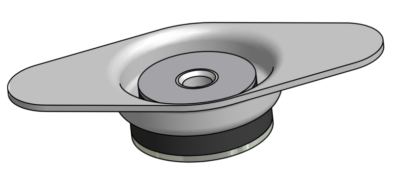 Vibramount Vloer Beugel Flexibel H34/60