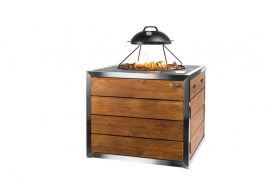 Cocoon Table RVS/Teak Lounge & Dining vierkant