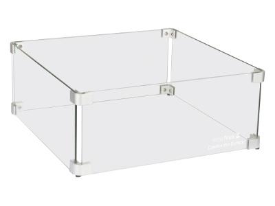 Glazen ombouw vierkant