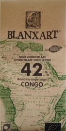 Blanxart Congo melkchocolade 42% BIO