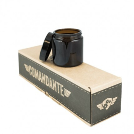 Comandante glazen potjes met deksel (4 stuks) donker