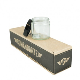 Comandante glazen potjes met deksel (4 stuks) transparant