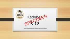 Kadobon € 10