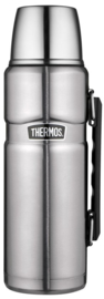 Thermos King SS fles 1,2L Hammertone RVS