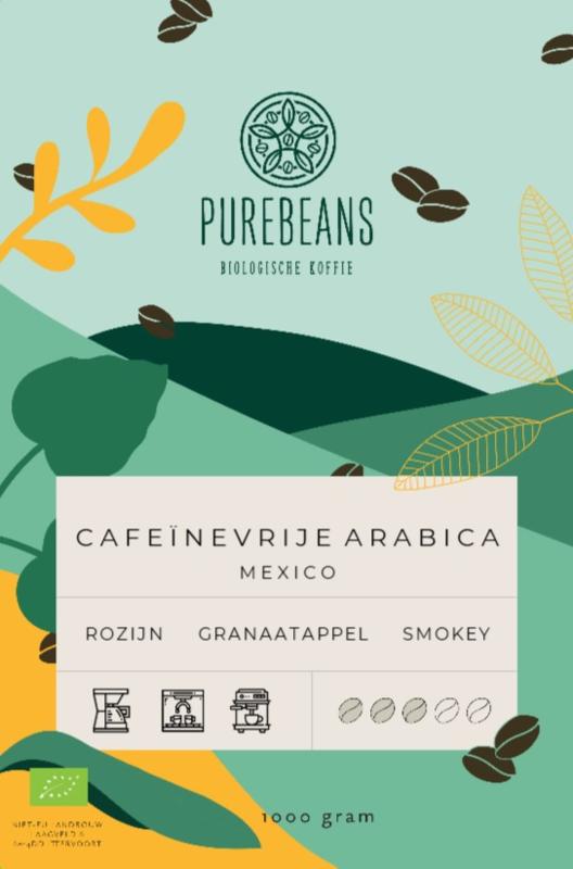 Cafeïnevrije Arabica uit Mexico BIO
