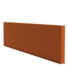 Cortenstaal tuinwand/muur 'Sotto'  600x15x135 cm
