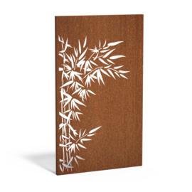 Cortenstaal sfeerpaneel 'Bamboo' 1100x50x1800