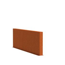 Cortenstaal tuinwand/muur 'Sotto'  200x15x80 cm
