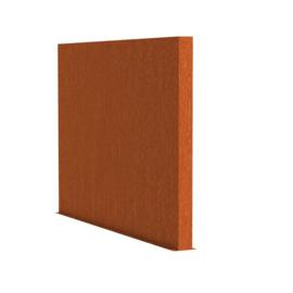 Cortenstaal tuinwand/muur 'Sotto'  200x15x200 cm