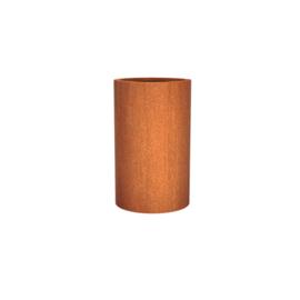 Cortenstaal plantenbak rond - cilindervorm Ø60xH100 cm