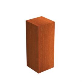 Cortenstaal sokkel 40x40x100 cm
