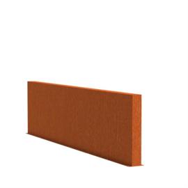 Cortenstaal tuinwand/muur 'Sotto'  300x15x80 cm