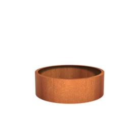 Cortenstaal plantenbak rond - cilindervorm Ø120xH40 cm