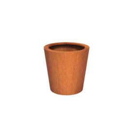 Cortenstaal plantenbak rond - taps Ø80xH80 cm
