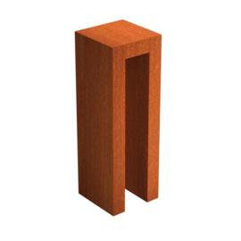 Cortenstaal U-sokkel 40x40x120 cm