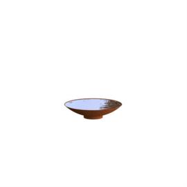 Cortenstaal waterschaal 'Elvio' Ø60xH14 cm