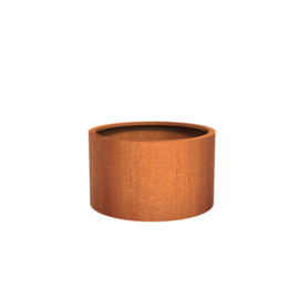 Cortenstaal plantenbak rond - cilindervorm Ø100xH60 cm