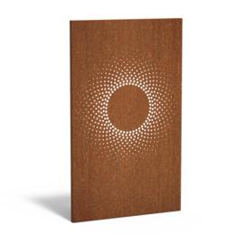Cortenstaal sfeerpaneel 'Circle' 1100x50x1800