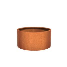 Cortenstaal plantenbak rond - cilindervorm Ø120xH60 cm