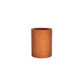 Cortenstaal plantenbak rond - cilindervorm Ø60xH80 cm
