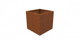 Cortenstaal plantenbak kubus L60xB60xH60 cm