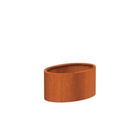 Cortenstaal plantenbak rond - ovaal L1200xB800xH600 mm