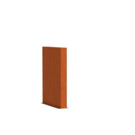 Cortenstaal tuinwand/muur 'Sotto'  100x15x80 cm