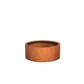 Cortenstaal plantenbak rond - cilindervorm Ø100xH40 cm