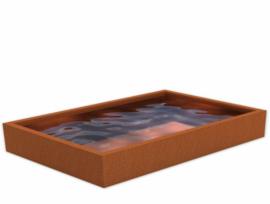 Cortenstaal vijver 500x350x60 cm
