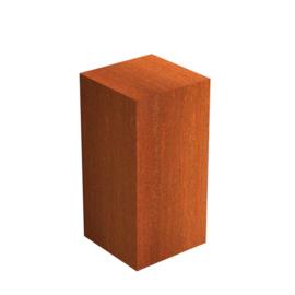 Cortenstaal sokkel 50x50x100 cm