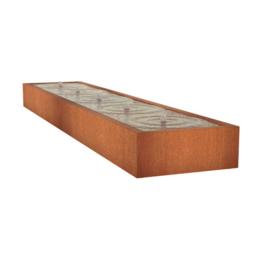 Watertafel 'Lucca' 500x100x40 cm incl. ledverlichting & pomp