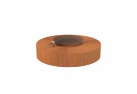 Ronde cortenstaal vuurtafel 'Siena' inclusief grillplaat 125x28 cm