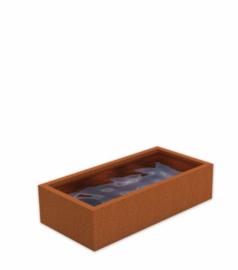 Cortenstaal vijver 250x125x60 cm