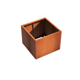 Cortenstaal borderbak (geen bodem) 100x100x80 cm