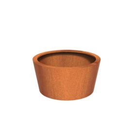 Cortenstaal plantenbak rond - taps Ø120xH60 cm