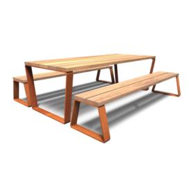 Cortenstaal picknickset 'Fernando' 2300x2405x760