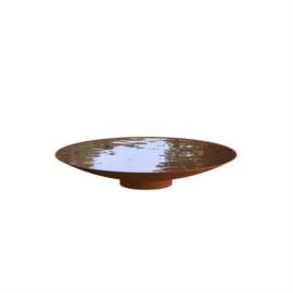 Cortenstaal waterschaal 'Elvio' Ø120xH21 cm