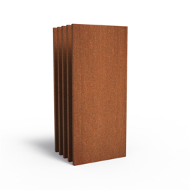 5 stuks Cortenstaal sfeerpaneel 'Natural' 800x50x1800