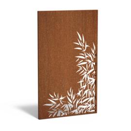 Cortenstaal sfeerpaneel 'Bamboo II' 1100x50x1800