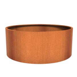 Cortenstaal plantenbak rond - cilindervorm Ø200xH80 cm
