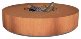 Ronde cortenstaal vuurtafel 'Siena' 125x28 cm