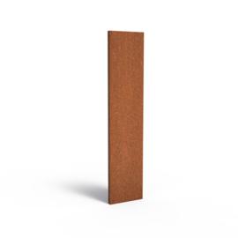 Cortenstaal sfeerpaneel 'Natural' 400x50x1800