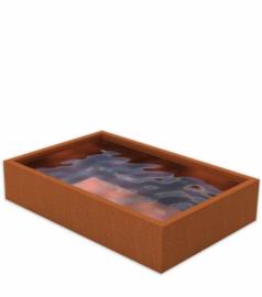 Cortenstaal vijver 400x250x60 cm