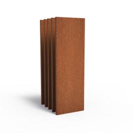 5 stuks Cortenstaal sfeerpaneel 'Natural' 600x50x1800