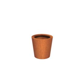 Cortenstaal plantenbak rond - taps Ø50xH50 cm