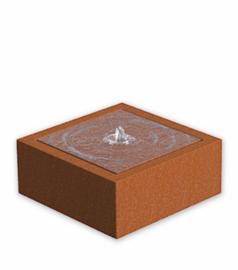 Watertafel 'Lucca' 100x100x40 cm incl. ledverlichting & pomp