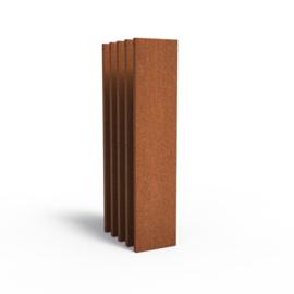 5 stuks Cortenstaal sfeerpaneel 'Natural' 400x50x1800